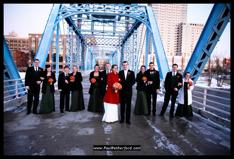 Wedding In Grand Rapids Blue Bridge Image