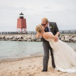 photo bride groom wedding location lake michigan northern