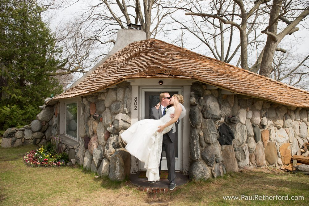 Mushroom House Wedding Photo Northern Michigan