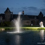wedding photo night castle farms outdoor venue