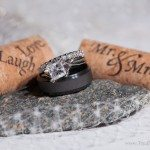 photo wedding rings and wine cork castle farms