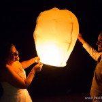 chinese lantern wedding photo