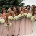 photo pink bridesmaid dress gown northern michigan