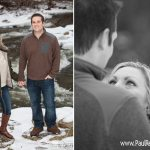 Engagement Winter Northern Michigan Photo