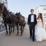 photo mackinac island horse carriage wedding