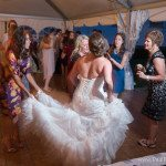 mackinac island dance floor bride wedding dress photo