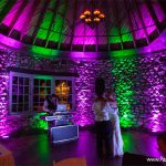 wedding light show northern michigan photo