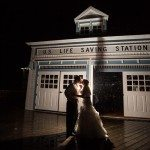 frankfort elberta west michigan life saving station wedding photo