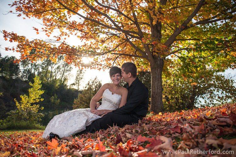 fall color wedding northern michigan idea photo
