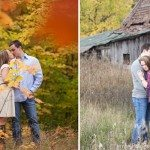 engagment photo fall shanty creek resort