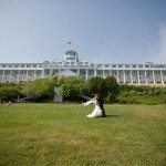 grand hotel mackinac island wedding tea garden lawn photo