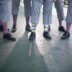 wedding sock destination grand hotel fun groomsmen photo