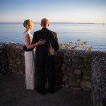 mackinac island wedding photography sunset rock photo