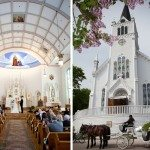 ste Anne's church wedding mackinac island northern michigan photo