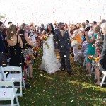 wedding confetti bay harbor photo