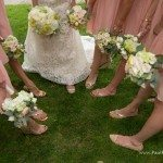photo white pink wedding shoe flower