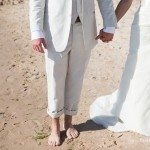photo bride groom holding hands wedding