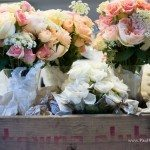 photo flower bouquet wooden box