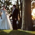 pure michigan wedding outdoor backlight bride groom photo