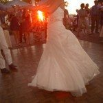 dance lake michigan perry hotel sunset wedding photo