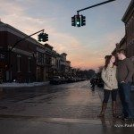 downtown petoskey engagement photo sunset