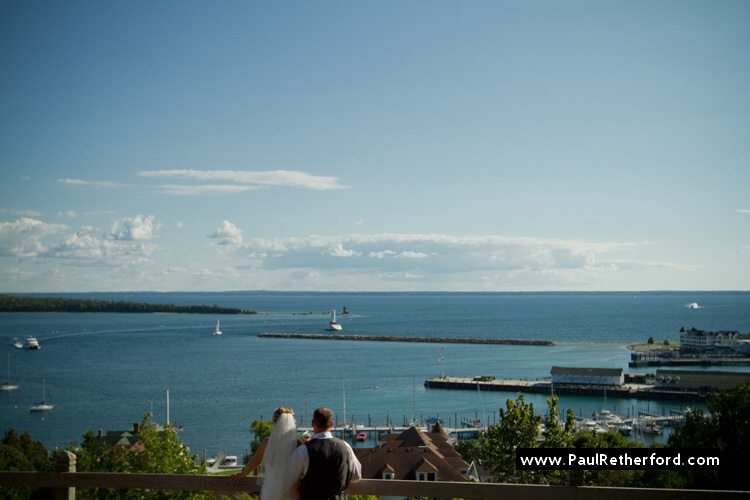 east bluff mackinac island wedding photo