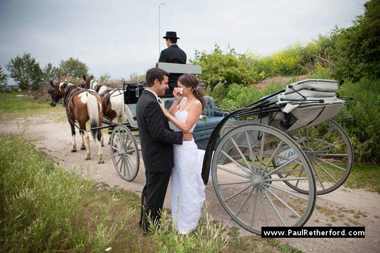 first sight look mackinac island carriage mission point wedding photo