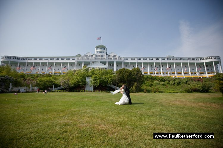 grand hotel tea garden lawn wedding outdoor mackinac island photo