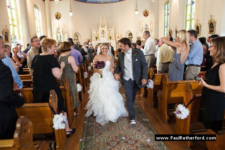 mackinac island ste anne church happy wedding couple isle love photo