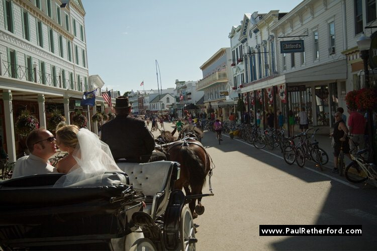 mackinac island wedding carriage ride gough livery photo