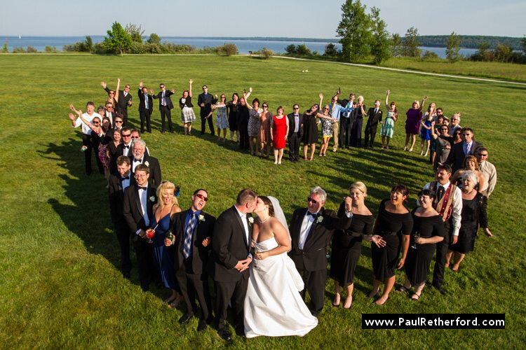 mission point mackinac island love heart group wedding photo